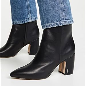 Sam Edelman | Hilty Black Leather Ankle Boots